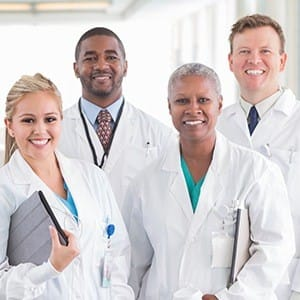 Group of doctors in lab coats